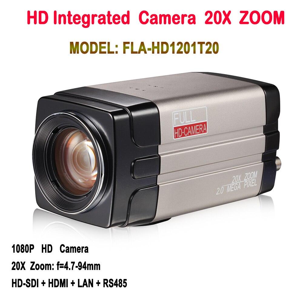 Caixa de IP Câmera de 2.0 Megapixels 1080 p 60fps SDI Onvif 20X Zoom Com HDSDI LAN HDMI de Saída Para O sistema de conferência/Media training remote