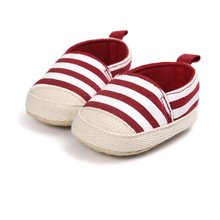 Lovely Baby Shoes  Girl Boy Striped Shoes Lovely Infant First Walkers Good Soft Sole Toddler Baby Shoes 0-18M