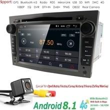 Android8.1 2DIN DVD GPS per Vauxhall Opel Astra H G J Vectra Antara Zafira corsa Multimedia dell'automobile dello schermo di radio stereo audio 4 GWIFI