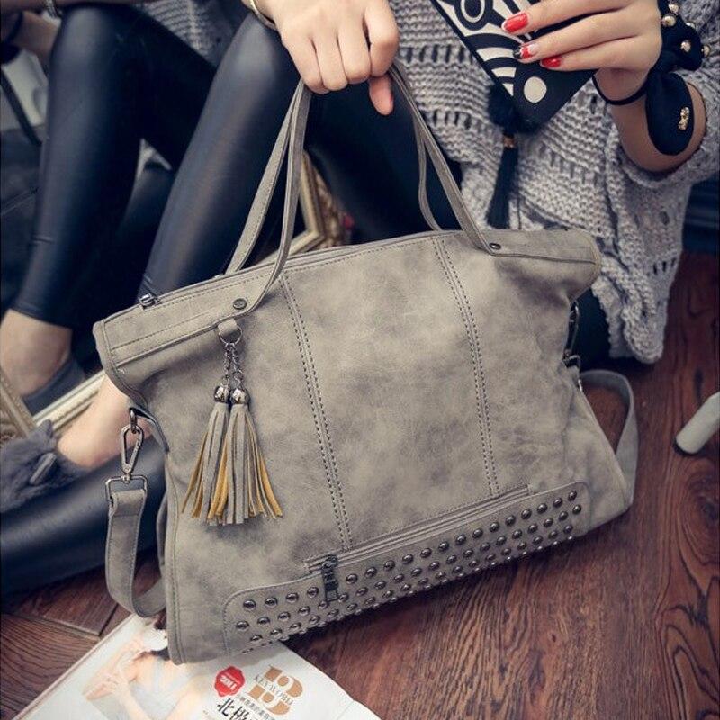bolsa de couro mulheres bolsas Color : Black, gray
