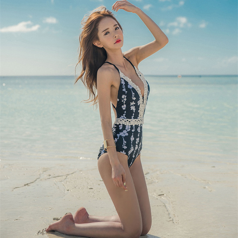 Aliexpress Com Buy Floral Retro One Piece Swimsuit Women Sport One Piece Suits Departure Beach May Swimwear Female Sex Monokini Swimsuits E279 From