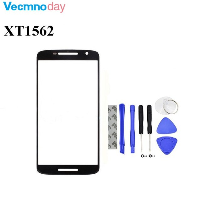 Vecmnoday Repair Part Front Outer Glass Lens outer Panel For Motorola Moto X Play XT1562 front glass free shipping black white