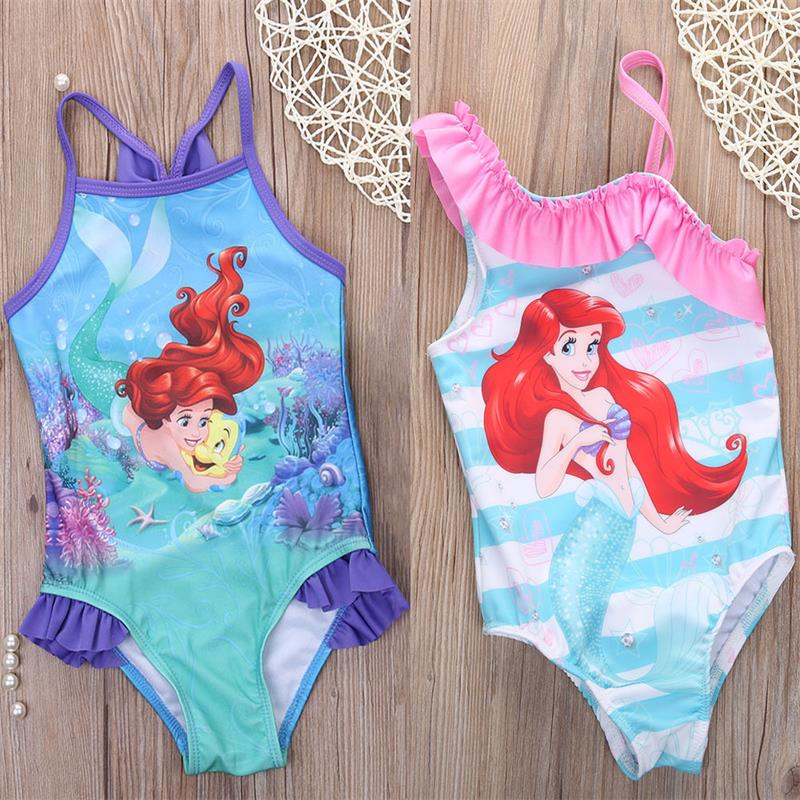 Lights & Lighting Mermaid Girl Kids Swimsuit Cartoon Bathing Suit Print Children Swimwear Bikini Tankini Baby Girl Summer Swimming Costume 2018