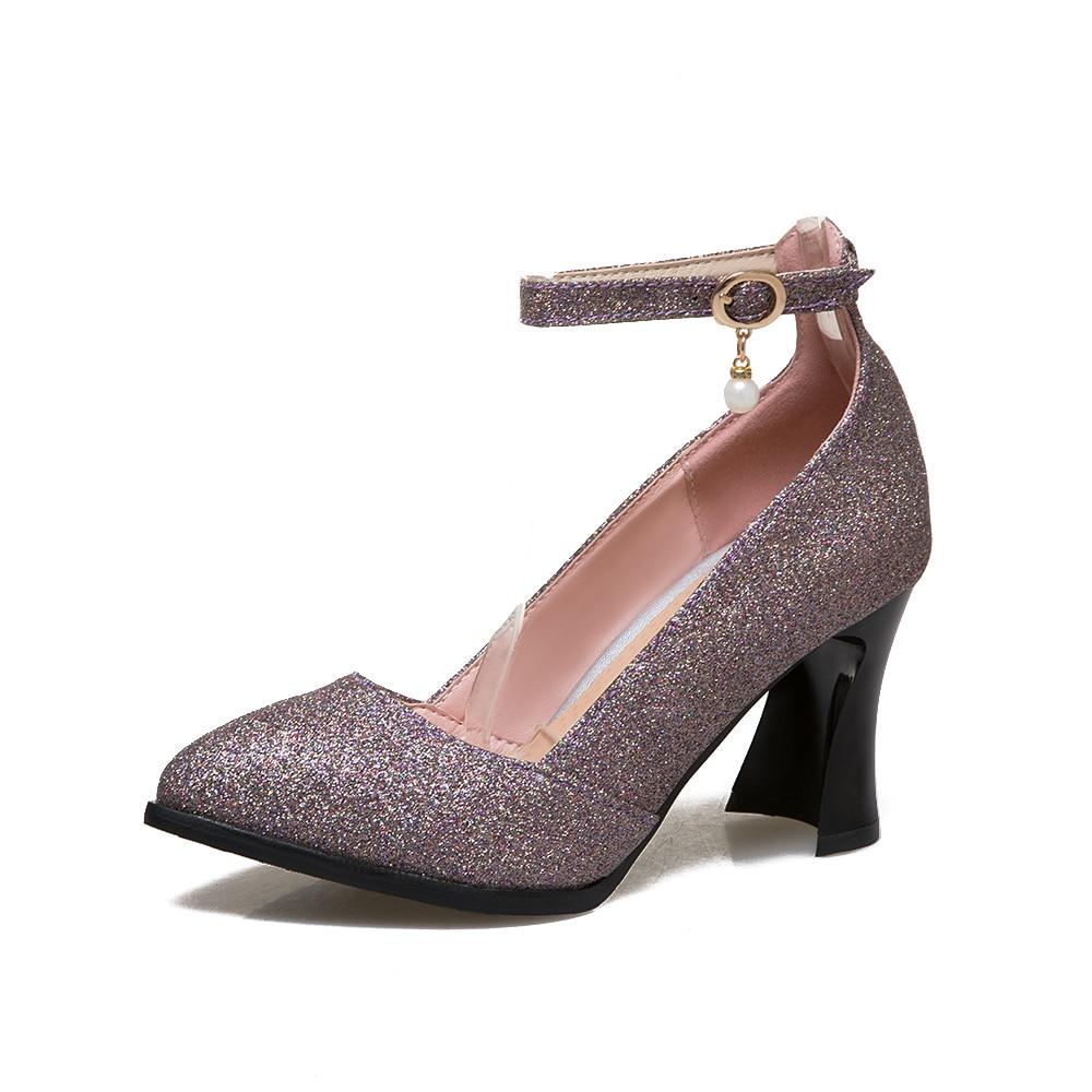 Femme Arrivée Pointu Noir Mode Pompes 31 2017 À T181 Femmes or 48 Doux Bout pourpre Taille argent Nouvelle Talons De Dames Hauts Chaussures Mariage Grande Robe p0IqI