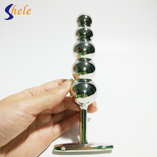 SHELE 5 Ball Stainless Steel Butt Plug Metal Dildo Plug Toys For Anal Vaginal Masturbation Anal