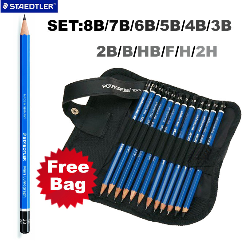 Staedtler Mars Lumograph Graphite Drawing & Sketching Pencils Set of 12 Degrees warlord of mars