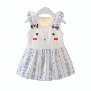 infant Summer Dress Girl Princess Toddler Baby Girl dresses Party wedding Cartoon rabbit Bow Clothes SZYADEOU vestidos bebes L5(China)