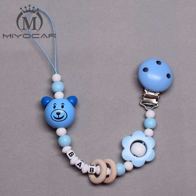 Personalised Dummy with Name Personalised Dummy Clip Blue