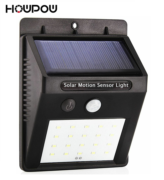HOWPOW Waterproof 20 LED Solar Light Solar Power PIR Motion Sensor LED Garden Light Outdoor Pathway Sense Solar Lamp Wall Light