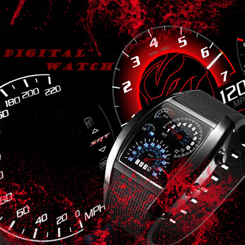 Clock Watch Silicone-Meter Digital Hour Sport Luxury-Design Fashion 7-Colors Relogio