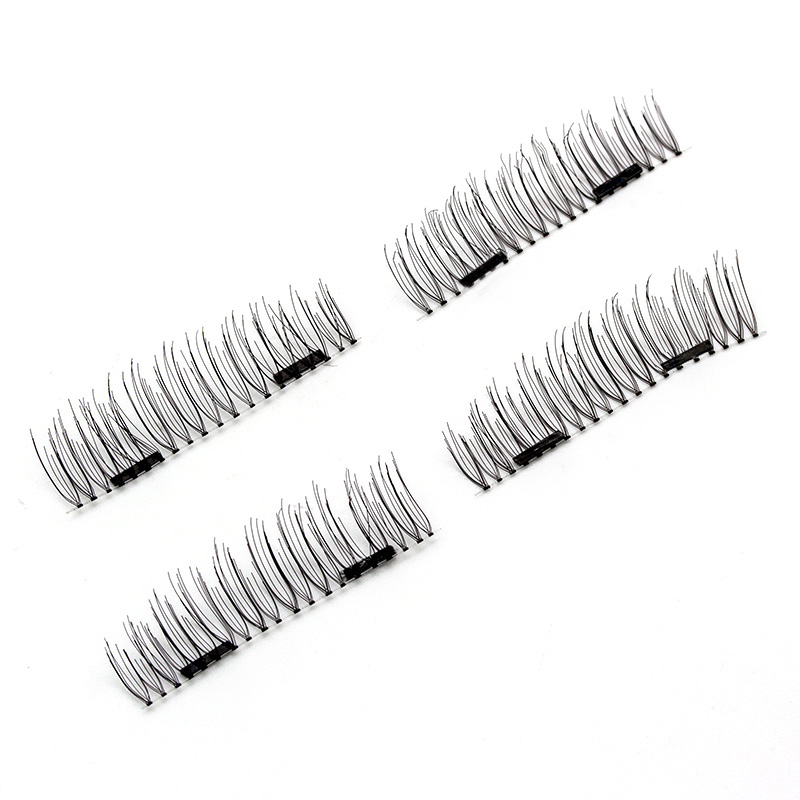 HaHaLash Magnetic Eyelashes 6D eype with three tiny magnets Natural curl Hand Made Factory Sell Eyelashes extention-HH-52HB-2