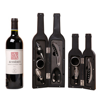 Creative Red Wine Bottle Opener Tools Home Kitchen Bar Decoration Wine Bottle Shape Wine Opener Set Craft Friends Business Gifts