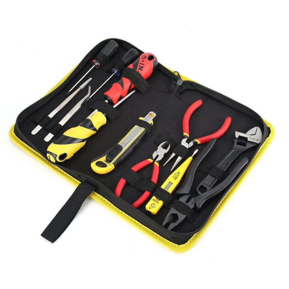 13 Pc Schraubendreher Zange Schlüssel Volt Tester Pinzette Messer Set Serie Reparatur Tool Kit Kreuz Punkt Spitze Diy Hand Manipulations Schraube Werkzeuge