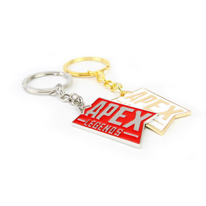Image 2 - 10 pcs/lot Hot game Apex legends keychain keyring stainless steel key chain Pendants action figure toy gifts