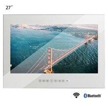 Souria 새로운 27 인치 와이파이 풀 hd 1080 p 안드로이드 스마트 매직 리얼 미러 tv 광고 디스플레이 lcd 욕실 홈 샤워 룸 tv