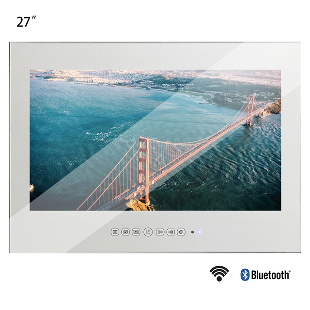 Souria New 27inch WiFi Full-HD 1080P Android Smart Magic Real Mirror TV Advertising Display LCD Bathroom Home Shower Room TV