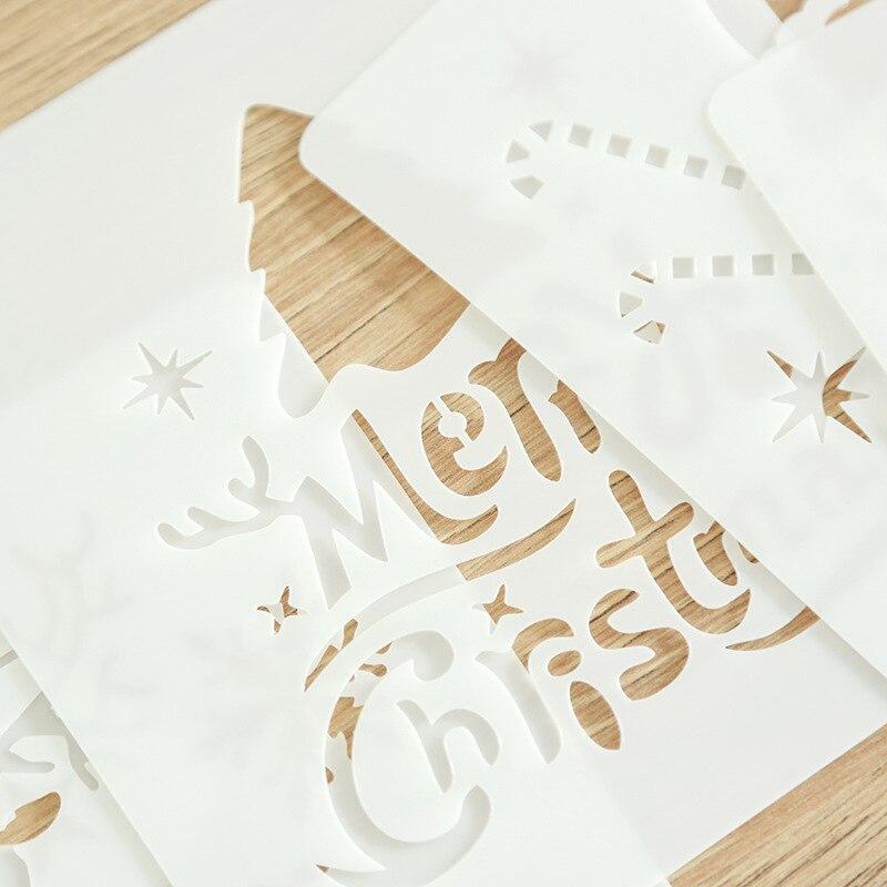 528 2018 Feliz Navidad De Plástico Suave Plantilla Copias árbol De Navidad Para Colorear De Regalo De Los Niños De Renos De Santa Claus Pintura En