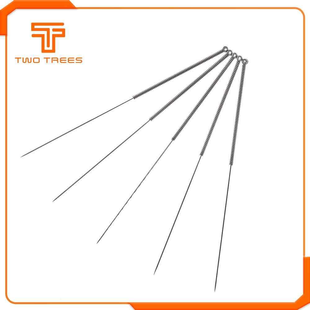 10 Buah/Set 3D Printer Stainless Steel Nozzle Cleaning Jarum Bor Bit 0.4 Mm Aksesoris RepRap Ultimake untuk CR10 CR-10S Ender 3