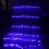 3x3M 8 modes Waterfall Curtain Icicle LED String Light Christmas Wedding Party Background garden Decoration lights