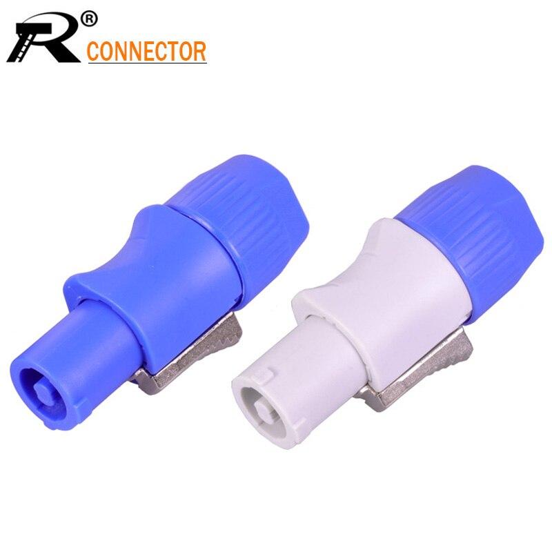 10pcs/lot 3 PIN AC PowerConnector Male Plug NAC3FCA NAC3FCB AC Power Plug 20A/250V For Stage Light LED Screen Blue/White