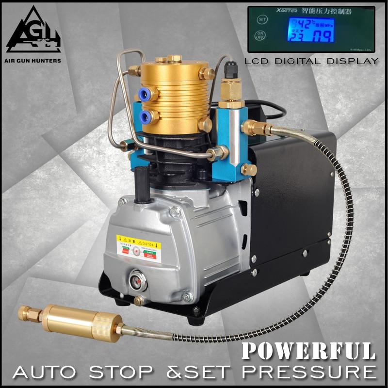 4500PSI 30MPA High Pressure AUTO STOP Electric PCP air Compressor Air Pump for Pneumatic Airgun Scuba