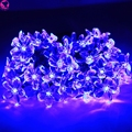 New 50 Solar Powered Led String Light Outdoor Decor Flower Shape Garden Christmas Party Lighting Fairly Garlands Holiday Festive