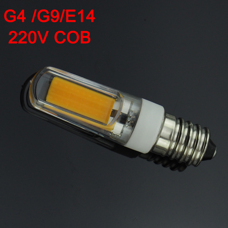 G9 G4 E14 LED 220V 3W Dimmable LED Lamp 2609 SMD COB Spotlight Bulb Lamp Light 360 Beam Angle Chandelier Lights Replace Halogen