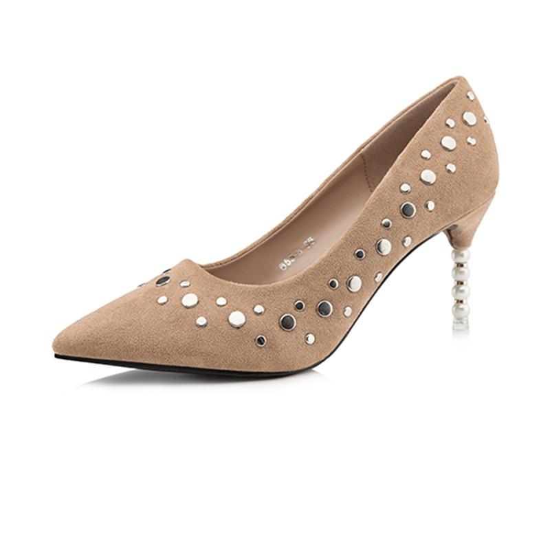 BIGTREE Brand Designer Shoes Women Luxury Scarpin Elegant Suede Pumps Thin High Heels OL Stiletto Valentine Shoes