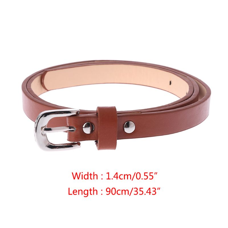 2018 New Hot Sale Kids PU Leather   Belts   Children Boys Girls Fashion Casual Leisure Waist Strap Waistband 4 Colors