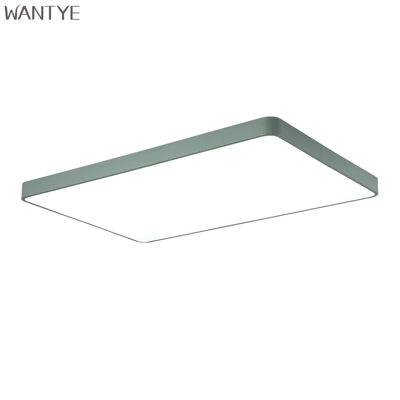 WANTYE Nordic Modern Square Ceiling Lights LED Lamp for Living room Kids room Kitchen Lighting Fixtures with Remote Control