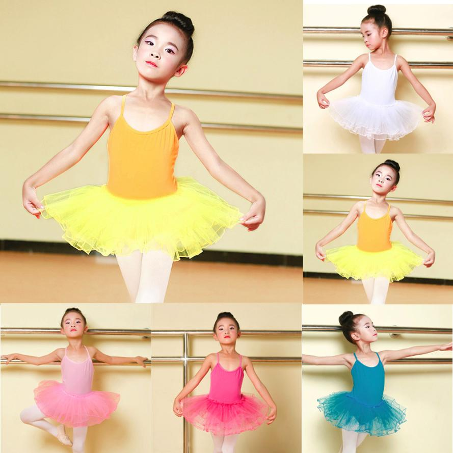 dress girl Toddler Girls Ballet Dress Tutu Leotard Dance Gymnastics Strap Clothes Outfits f27