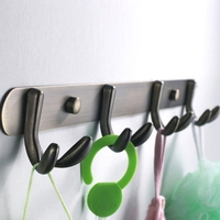Bathroom Antique Brass Bathroom Clothes Hanging Hook Stainless Steel Fashion Clothes Hook Row Hook