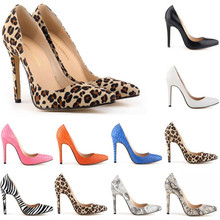 Women Pumps Snake Leopard Zebra Pattern Pointed Toe Thin Heels Shoes Woman Platform Designer Luxury