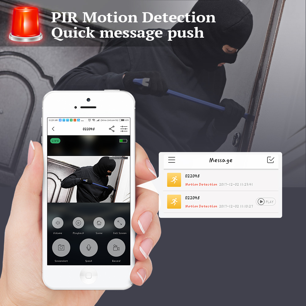 Image 3 - KERUI Wireless WiFi 1080P HD Low Power Home Security PIR Motion Detection Doorbell Remote Intercom Video Message Push Door bell-in Sensor & Detector from Security & Protection