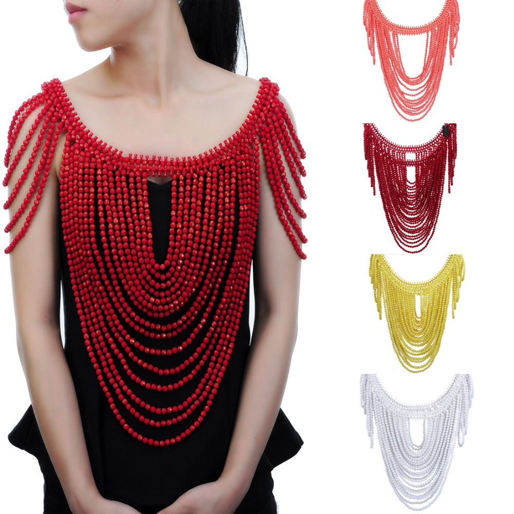 Fashion Jewelry Vintage Statement Body Shoulder Bib Full