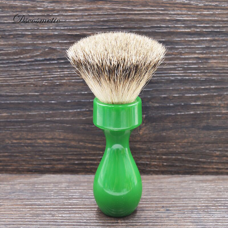 Dscosmetic 24mm Super Badger Hair Fan Shape Knots Shaving Brush With Resin Handle