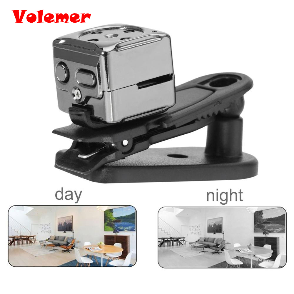 Galleria fotografica Volemer Hot Sale Mini Camera Night Vision Camera Video Camcorder Mini DV Full HD 30FPS Sports DV Support Memory Card PK SQ11 SQ8