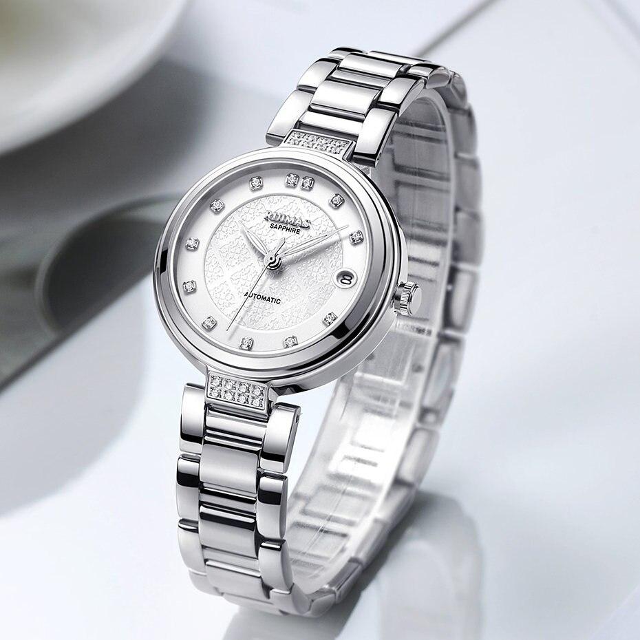 RUIMAS Fashion Women Mechanical Watch Luxury Classic Ladies Wristwatches 2018 Top Brand Analog Watches Female Clock