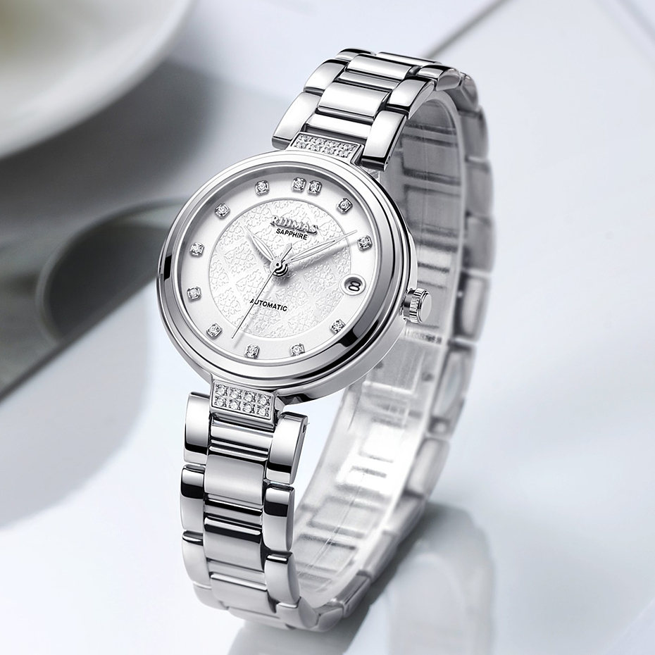 Reloj Mecánico a la moda para mujer, relojes de pulsera clásicos de lujo para mujer, relojes analógicos de marca 2018, Montre para mujer-in Relojes de mujer from Relojes de pulsera    1