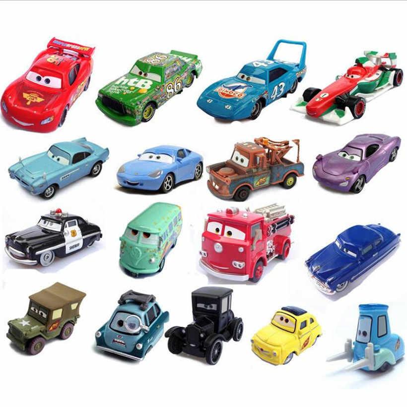 Nieuwe Disney Pixar Cars Algemene Mobilisatie van Groothandel Voertuigen McQueen Koning van auto's Storm Ramirez 1:55 Metalen Legering Model Speelgoed