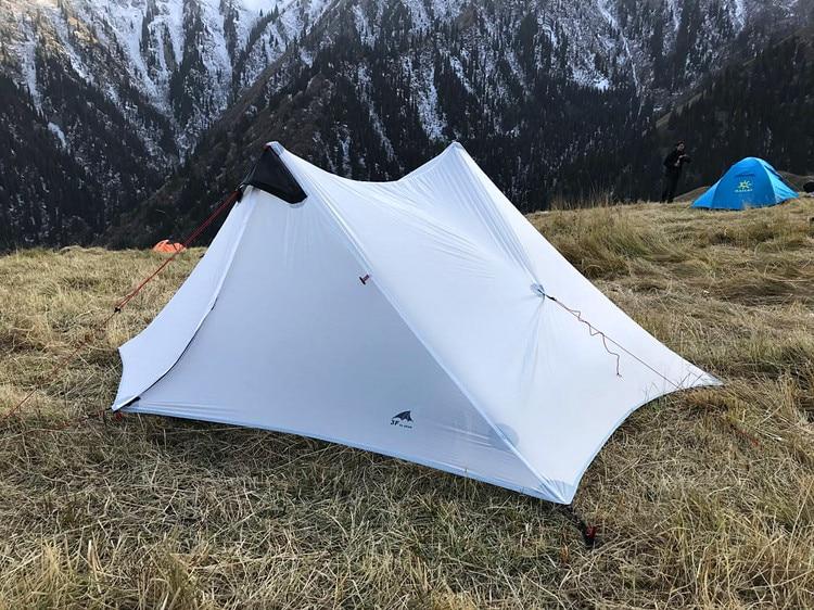 3f ul gear outdoor 2 person 1 Person ultralight camping tent NON POLE barraca de acampamento barracas para camping lanshan 2