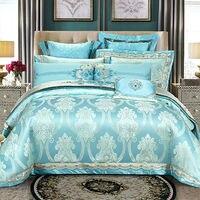 Роскошные жаккардовые комплекты постельного белья атласные жаккардовые покрывала богемный пододеяльник постельное белье queen King size