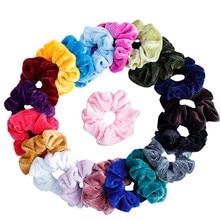 20 uds/lote suave gasa terciopelo satén pelo Scrunchie floral Grip Loop Holder elástico banda para el cabello accesorios para corbatas de pelo leopardo FD