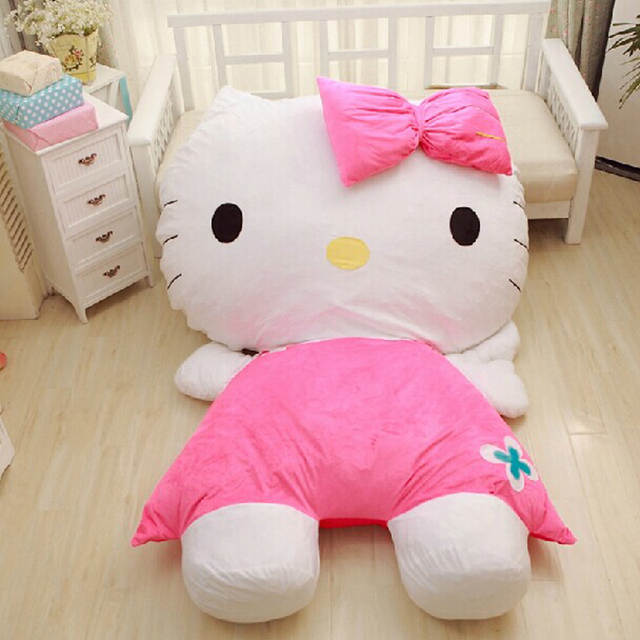 Online Shop 2016 Cartoon Mattress Hello Kitty Sofa Bed Giant Stuffed