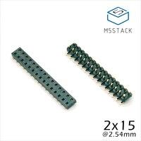 مسؤول M5Stack عرض الأسهم! 2 × 15 دبوس رؤوس المقبس 2.54 ملليمتر ذكور والاناث 4 زوج الموصل ل M5Stack التنمية الأساسية