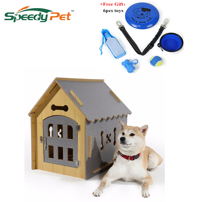 Domestic delivery Fashion Dog DIY House Crate Wooden Kennel Indoor Condo Pet Shelter for Small Medium Dogs and Cats Собака
