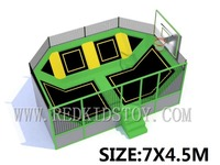 Wholesale ASTM Certificated Indoor Trampoline With Basketball HZ LG059