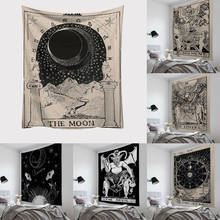 Tarot Card Tapestry Wall Hanging Astrology Divination Bedspread Beach Mat(China)