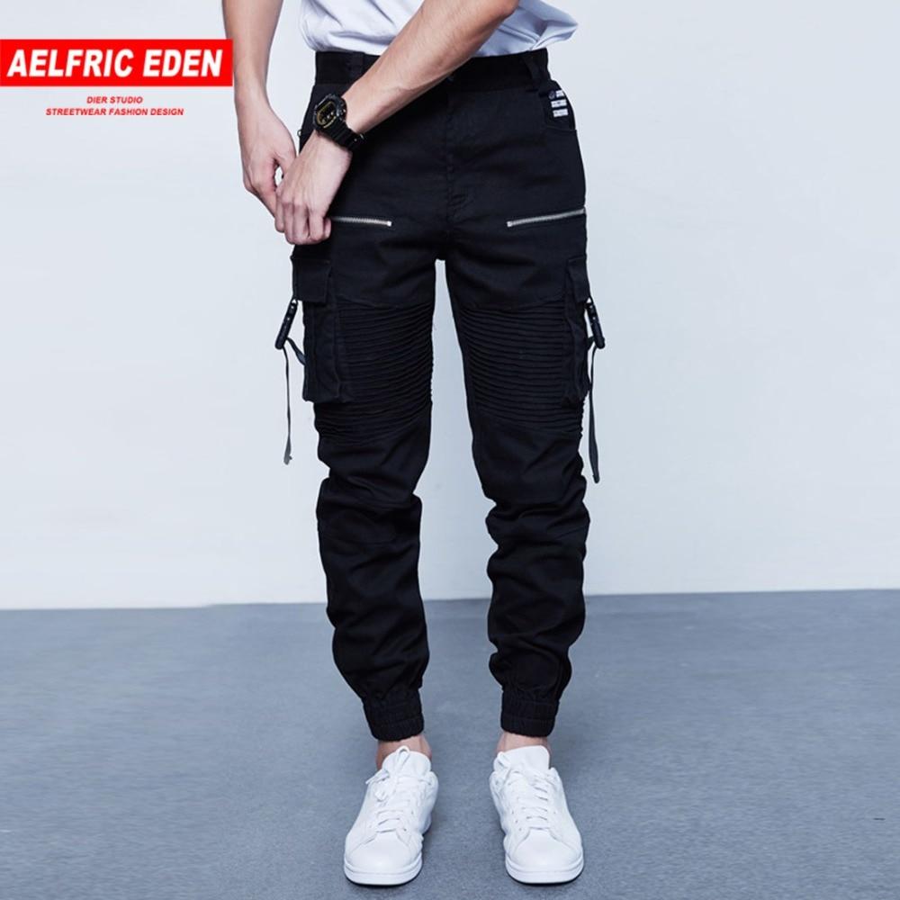 Aelfric Eden Burst Section Assassins Creed Homme Pantalon Épissé Poche Plissée Pantalon Cargo Pour Hommes Skateboard Ruban Butin Pantalon Décontracté