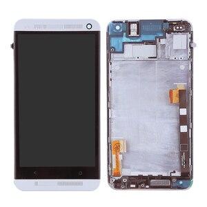 Image 3 - 801e односимочный ЖК дисплей для HTC One M7 ЖК дисплей 4,7 дюймов сенсорный экран сменный дигитайзер в сборе с рамкой 1 год гарантии
